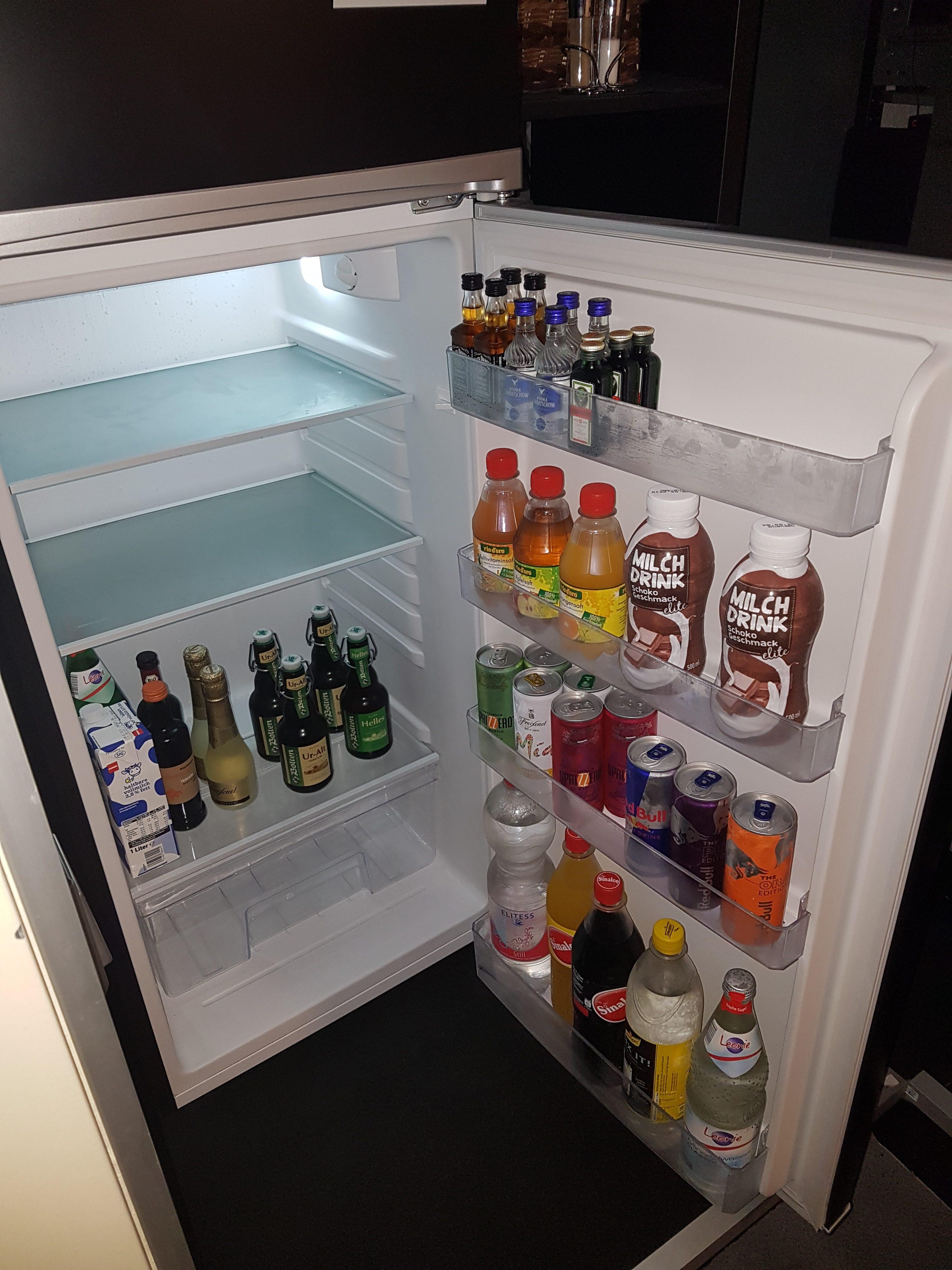 Gekühlte Getränke in der Minibar